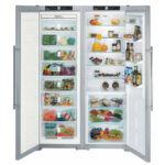 Liebherr SBSes7253  Premium BioFresh NoFrost side by side nemesacél hűtőszekrény A++/A++ 185x121x63cm